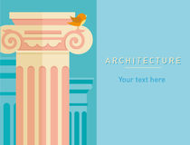 Illustration of ancient architecture, tall columns Royalty Free Stock Images