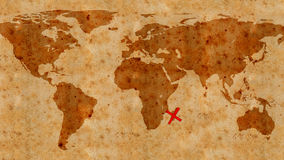 Illustration of an ancient treasure map texture Stock Photos