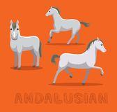 Illustration andalouse de vecteur de bande dessinée de cheval illustration stock