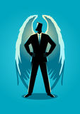Illustration of an angel as a businessman Royalty Free Stock Images