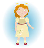 Illustration of angel girl Royalty Free Stock Images
