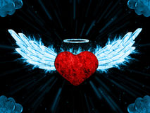 Illustration of angel heart Royalty Free Stock Photos