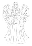 Illustration of an angel in a humble sketch style. It can be use Royalty Free Stock Images