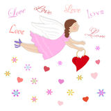 Illustration with angel,love. Stock Photography