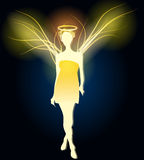 Illustration of angel made of light Royalty Free Stock Images
