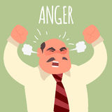 Illustration of an angry boss businessman Royalty Free Stock Photo