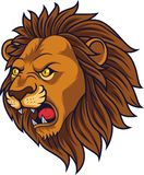 Angry lion head mascot vector illustration
