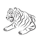Illustration of angry tiger. Stock Photography