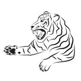 Illustration of angry tiger. Stock Images