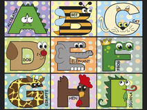 Animal alphabet. Illustration of animal alphabet - stock 1 Royalty Free Stock Image