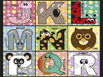 Animal alphabet. Illustration of animal alphabet - stock 2 Stock Image