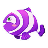 Illustration: Animal Set: Purple Fish. Stock Images