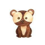 Illustration animale d'enfants de forêt d'aquarelle Image stock