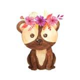 Illustration animale d'enfants de forêt d'aquarelle Photo libre de droits