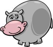 Illustration animale de bande dessinée d'hippopotame Photos libres de droits