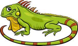 Illustration animale de bande dessinée d'iguane Images stock