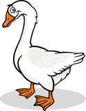 Illustration animale de bande dessinée d'oiseau de ferme d'oie Image stock