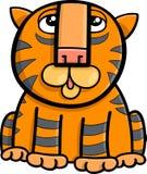 Illustration animale de bande dessinée de tigre Photographie stock libre de droits
