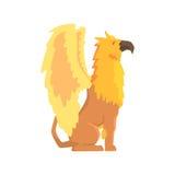 Illustration animale de monstre de griffon, mythique et fantastique légendaire de vecteur illustration stock