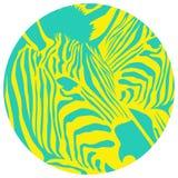 Illustration animale de silhouette de zèbre Vecteur im d'ENV Photos stock