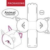 Illustration animale de vecteur de collection de bo?te illustration stock