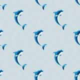 Illustration animale de vecteur de dauphins de nature d'océan de modèle de mer de faune mammifère sans couture marine aquatique m illustration de vecteur