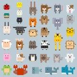 Illustration animale plate de couleur de bande dessinée de rectangle Illustration Libre de Droits