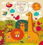 Illustration with animals Royalty Free Stock Image
