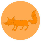 Illustration of an animation cunning fox for the children's book Royalty Free Stock Photo