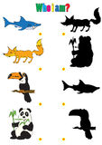 Illustration of animation silhouettes of animals for the childre Royalty Free Stock Photos