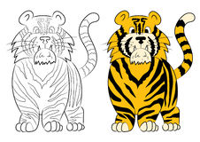 Illustration of an animation tiger. Stock Photos