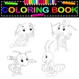 Ant coloring book. Illustration of ant coloring book vector illustration