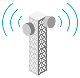 Illustration of antenna tower Royalty Free Stock Image