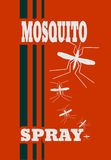 Illustration of anti-mosquito spray label Royalty Free Stock Images