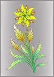 Illustration antique de fleur Photos stock