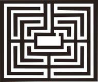 Illustration antique de labyrinthe illustration de vecteur