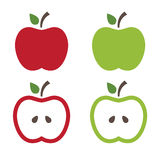Illustration of apples in white backgroung Royalty Free Stock Photos