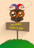 Illustration of April fool's day,first April. Stock Image