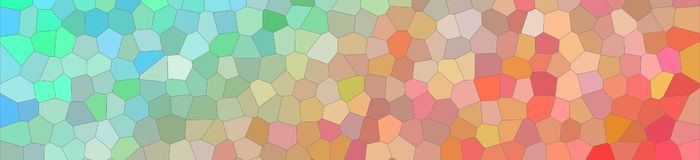 Illustration of aqua and red bright Small Hexagon banner background. Illustration of aqua and red bright Small Hexagon banner background vector illustration
