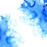 Illustration aqueuse bleue Dessin d'encre Image libre de droits