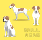 Illustration arabe de vecteur de bande dessinée de Taureau de chien illustration libre de droits