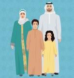 Illustration arabe de vecteur de famille Image libre de droits