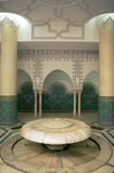 Illustration arabic interior. Illustration in colors of tan, white and blues, columns and details, could be lobby or plaza interior of building; in facts it is a Royalty Free Stock Image
