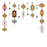 Illustration of Arabic lamps Royalty Free Stock Images