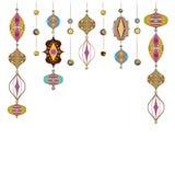Illustration of Arabic lamps vector illustration