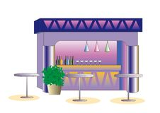 Fashionable bar image for adults royalty free illustration