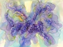 Illustration arctique d'aquarelle de Lupines Image stock