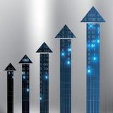 Illustration argentée bleue futuriste de fond de vecteur abstrait illustration stock