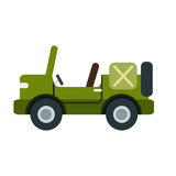 An illustration of an army car on white background Royalty Free Stock Photography