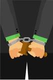Illustration for Arrested Judge. Vector Illustration for Arrested Judge Royalty Free Stock Photography